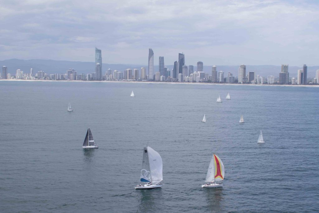 A view from above, the fourth and final day in the 2017 Bartercard Sail Paradise Regatta
